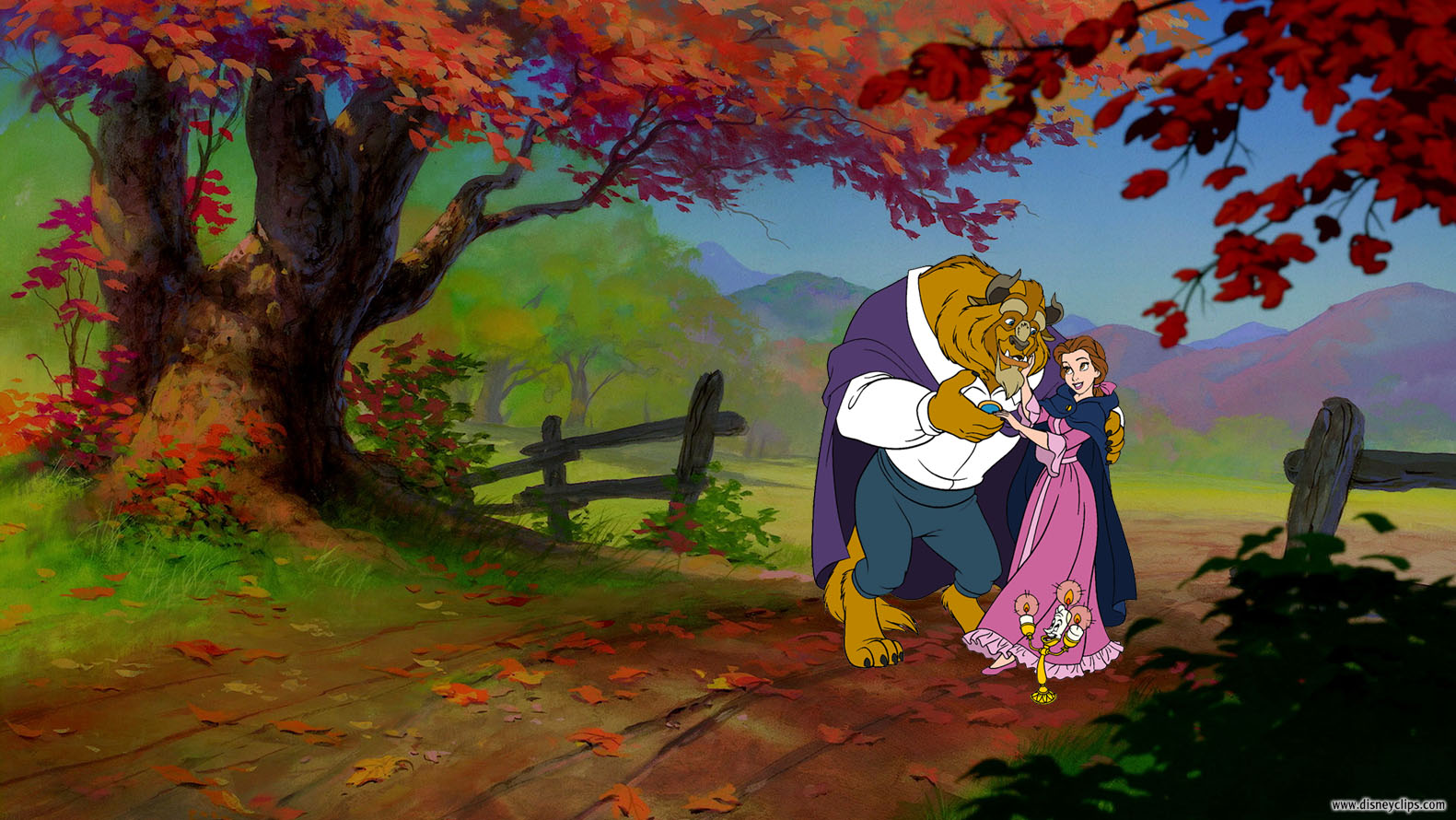 Belle And Beast In The Ballroom Wallpaper