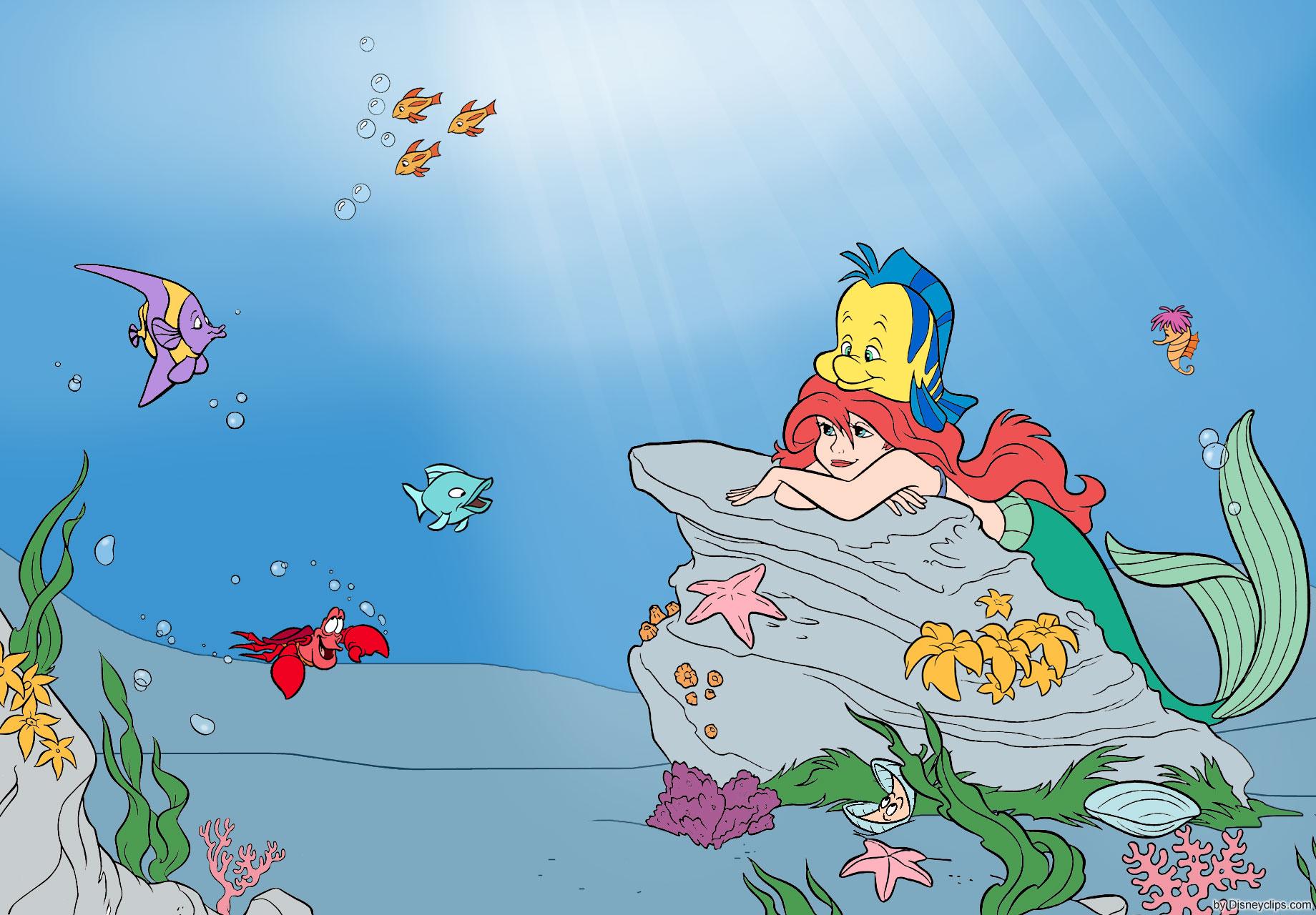 The Little Mermaid Wallpaper Disneyclipscom