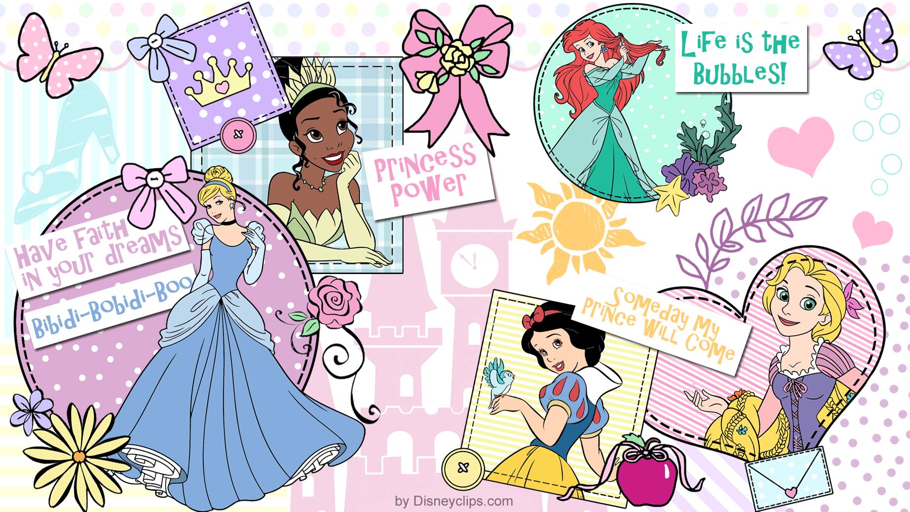 Disney Princess Wallpaper Disneyclipscom