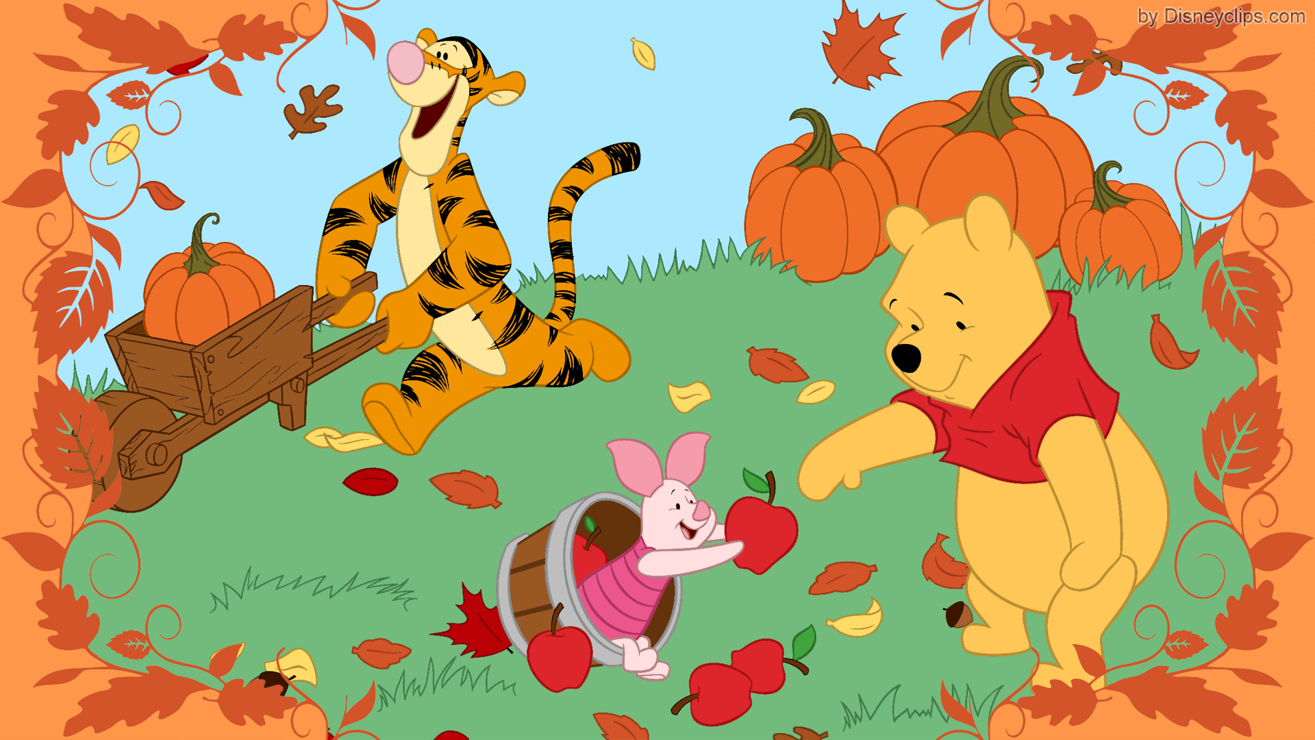 Winnie The Pooh And Friends Wallpaper Disneyclips Com