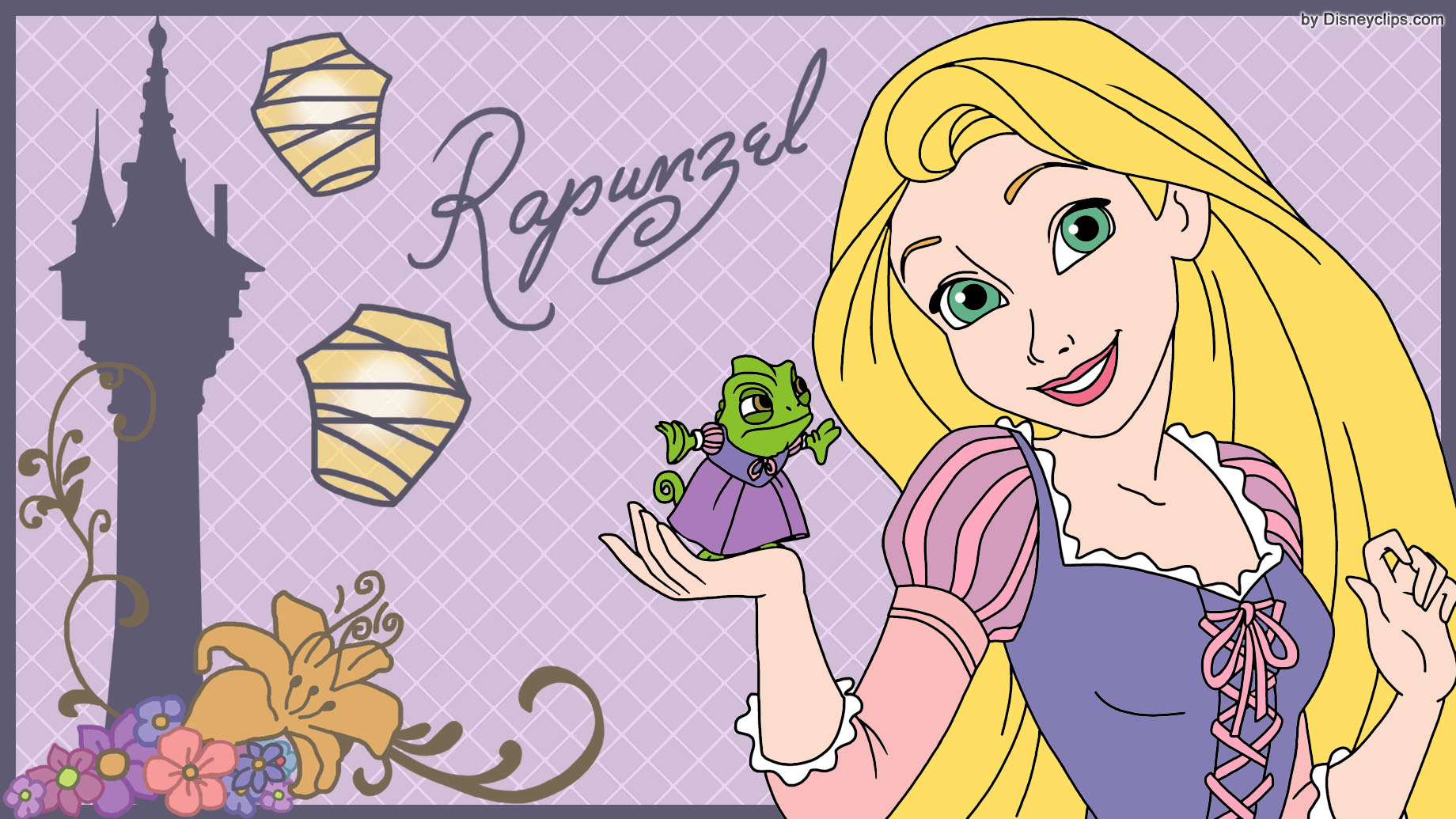 Tangled Rapunzel And Pascal Wallpaper Disneyclips Com