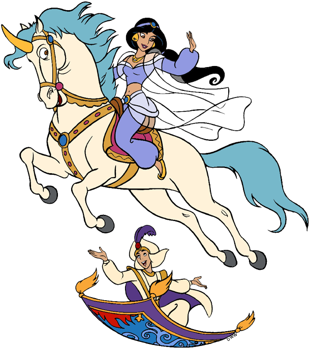 Aladdin And Jasmine Clip Art Disney Clip Art Galore