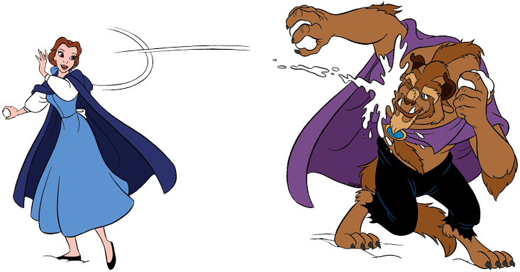 Belle and the Beast Clip Art