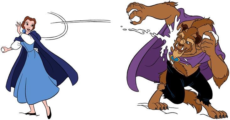Belle And The Beast Clip Art Disney Clip Art Galore