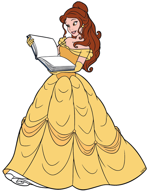 Disneys Belle Clip Art 4