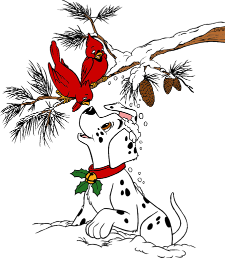 101 Dalmatians Christmas Clip Art