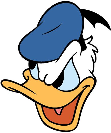 Donald duck cartoon face