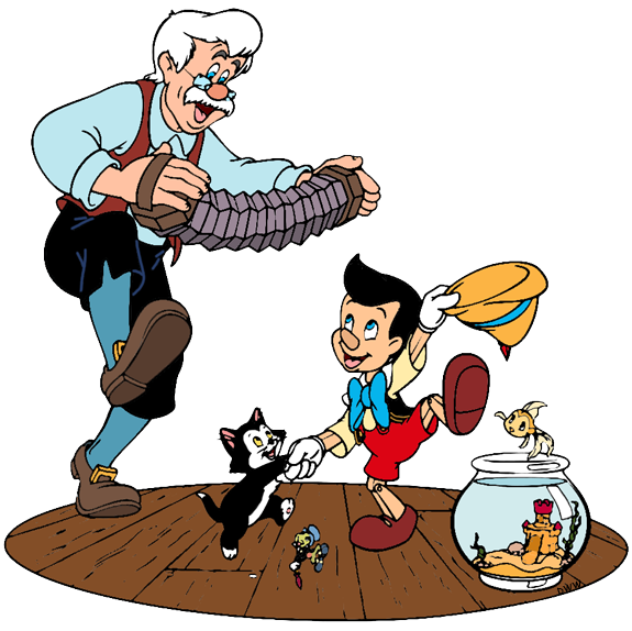 Pinocchio Group Clip Art Disney