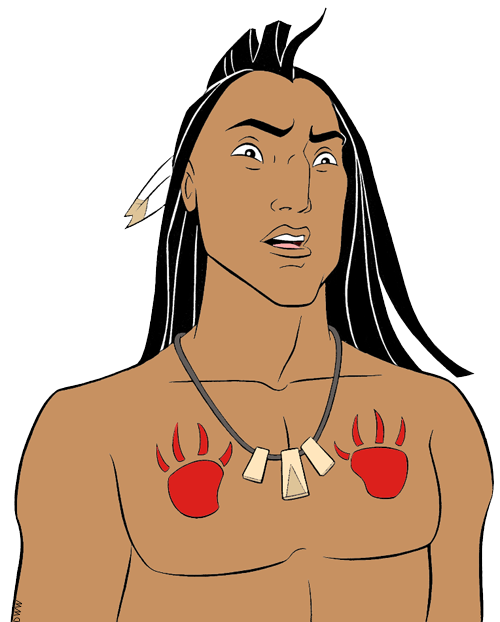 nakoma kocoum and chief powhattan clip art disney clip