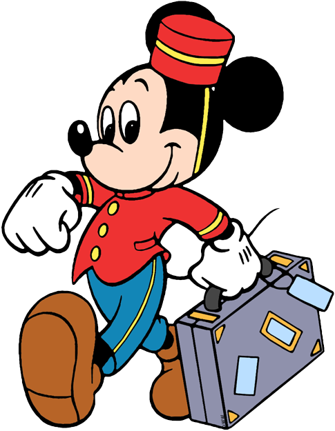 Mickey The Bellhop Carrying Luggage Playing