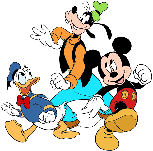 Mickey Donald And Goofy Clip Art