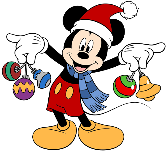 72b9c4310e4cd ... santa hat Mickey Mouse ornaments ...