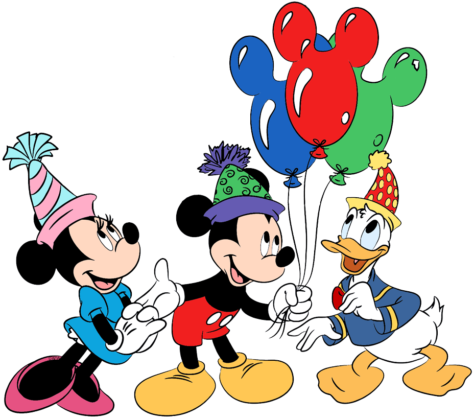 Disney Friends Clipart Mickey Friends PNG Files Transparent Background Donald Duck Daisy Goofy Plato Characters Disney Party Supplies