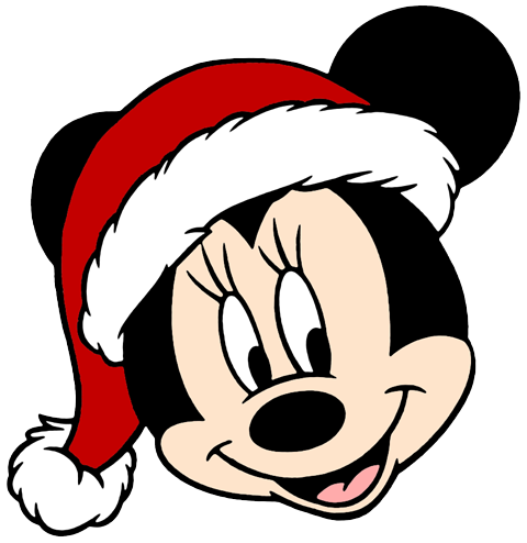 minnie mouses face - Christmas Mickey Mouse