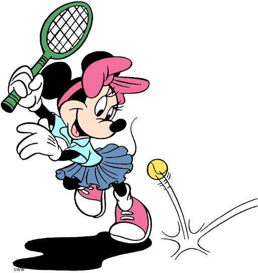 Disney Tennis Badminton Clip Art