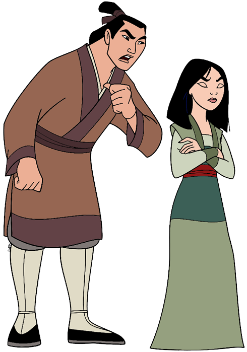 Mulan Colored Coloring Pages