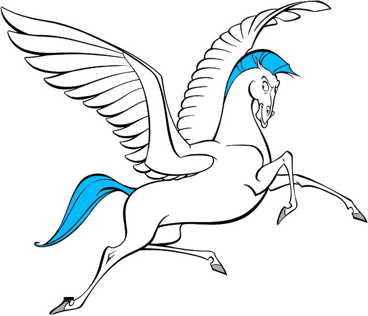 Hercules and Pegasus Clip Art