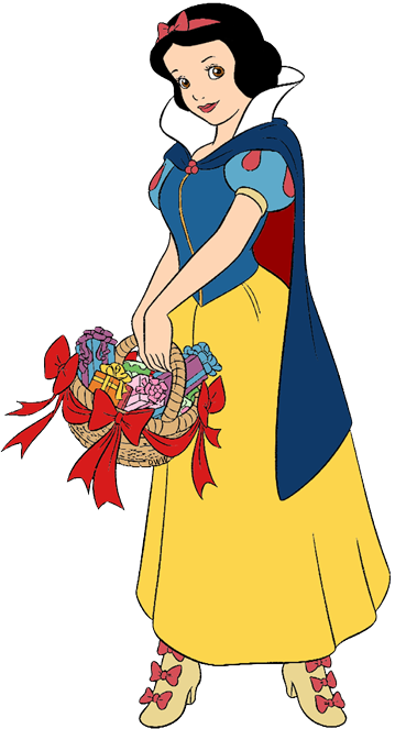 snow white and the seven dwarfs christmas clip art