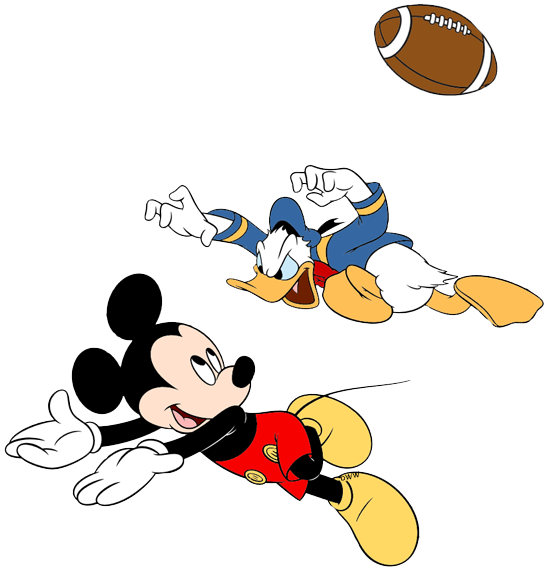 mickey playing football