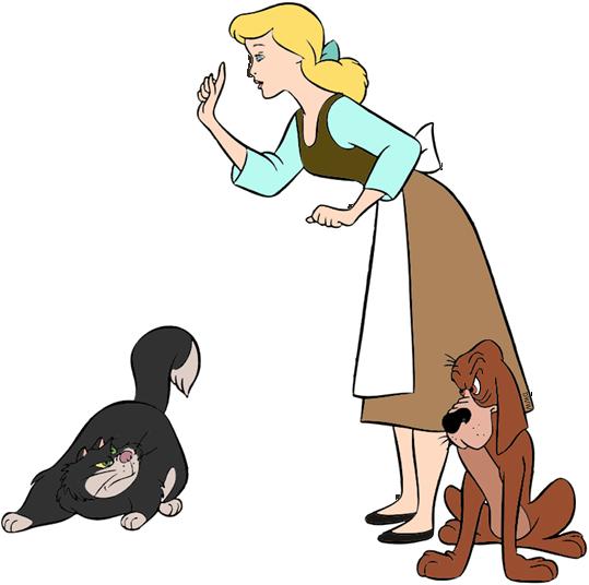 Lucifer Cinderella: Cinderella, Mice And Birds Clip Art