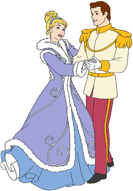 Cinderella and Prince Charming Clip Art Disney Clip Art