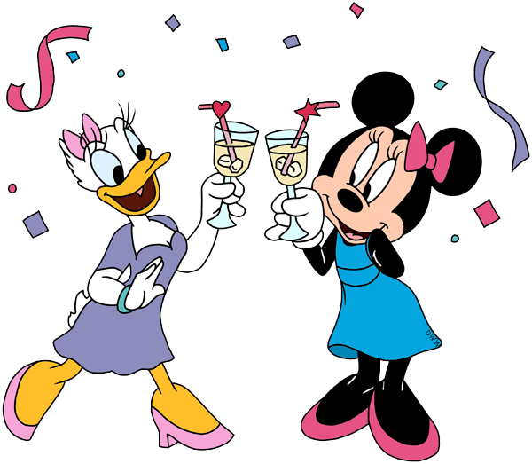 Baby Minnie Mickey Daisy Duck Toasting
