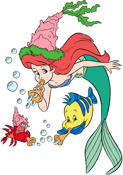 ariel flounder sebastian daisy minnie toasting piglet new years day winnie the pooh new years day more holiday clip art