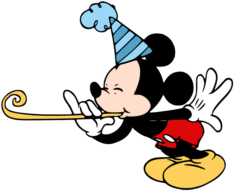 Birthday/party Clip Art - Mickey Mouse With Gift, HD Png Download - kindpng