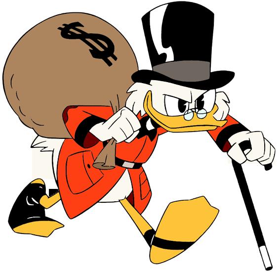 Afbeeldingsresultaat voor dagobert duck money