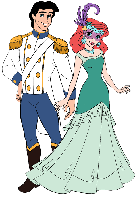 Ariel and Eric Clip Art Disney