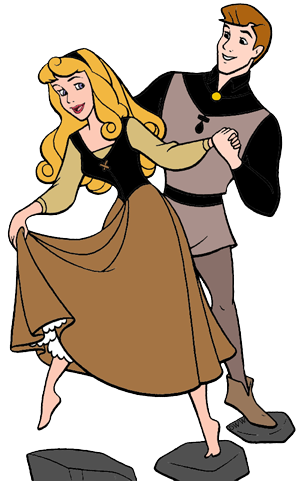 Aurora and Phillip Clip Art Disney