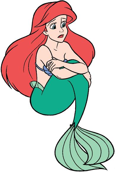 Disney The Little Mermaid 3 Coloring Pages Mermaid Ariel Clip Art...