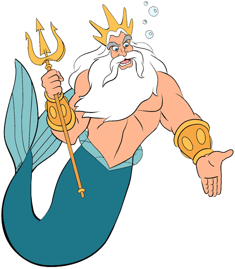 King Triton Clip Art | Disney Clip Art Galore