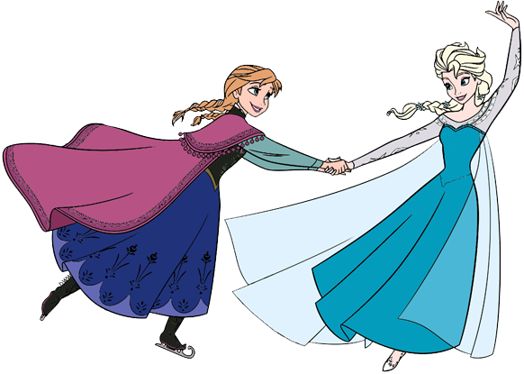 Anna And Elsa Clip Art From Frozen Disney Clip Art Galore