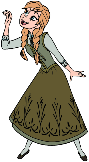 Anna Clip Art from Frozen Disney