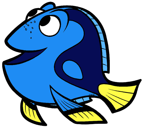 Fish outline dory. Finding clip art disney