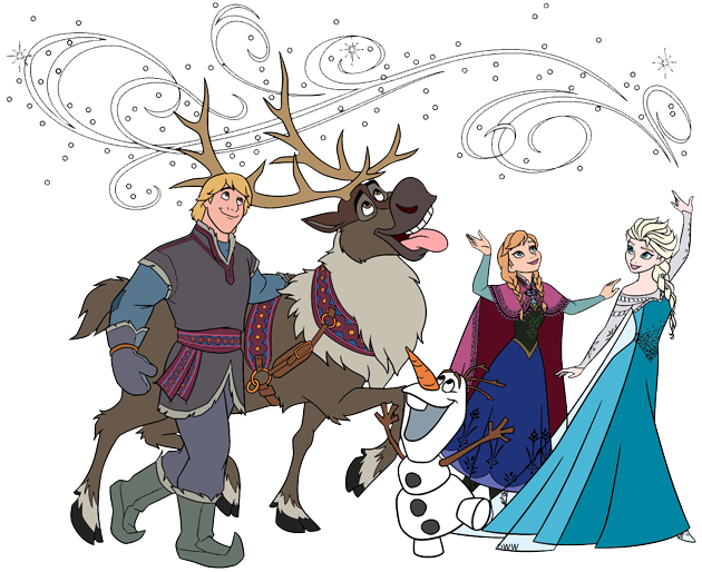 Drawing Of From Frozen Kristoff And Sven: Disney's Frozen Clip Art 3