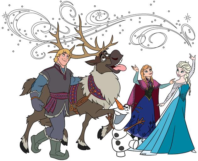 Frozen Group Clip Art | Disney Clip Art Galore