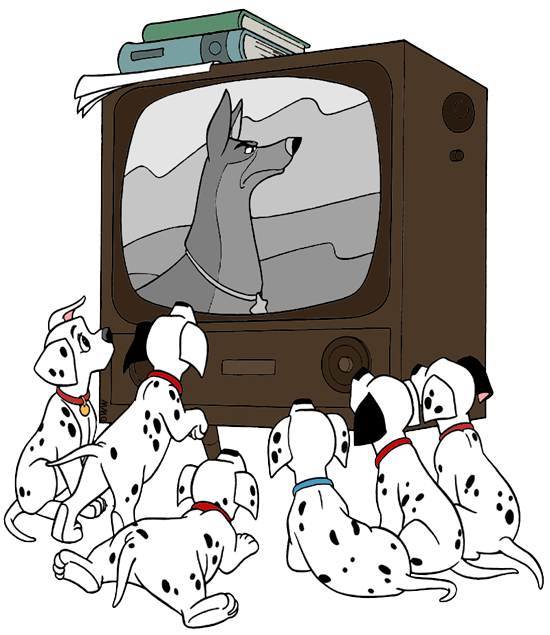 Watching Tv Clip Art