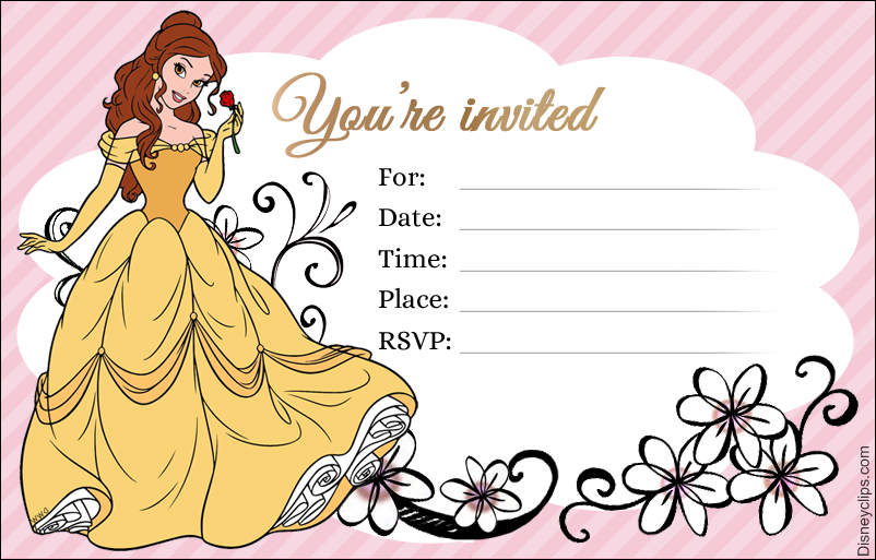 Disney Princess Belle Printables Disneyclips Com