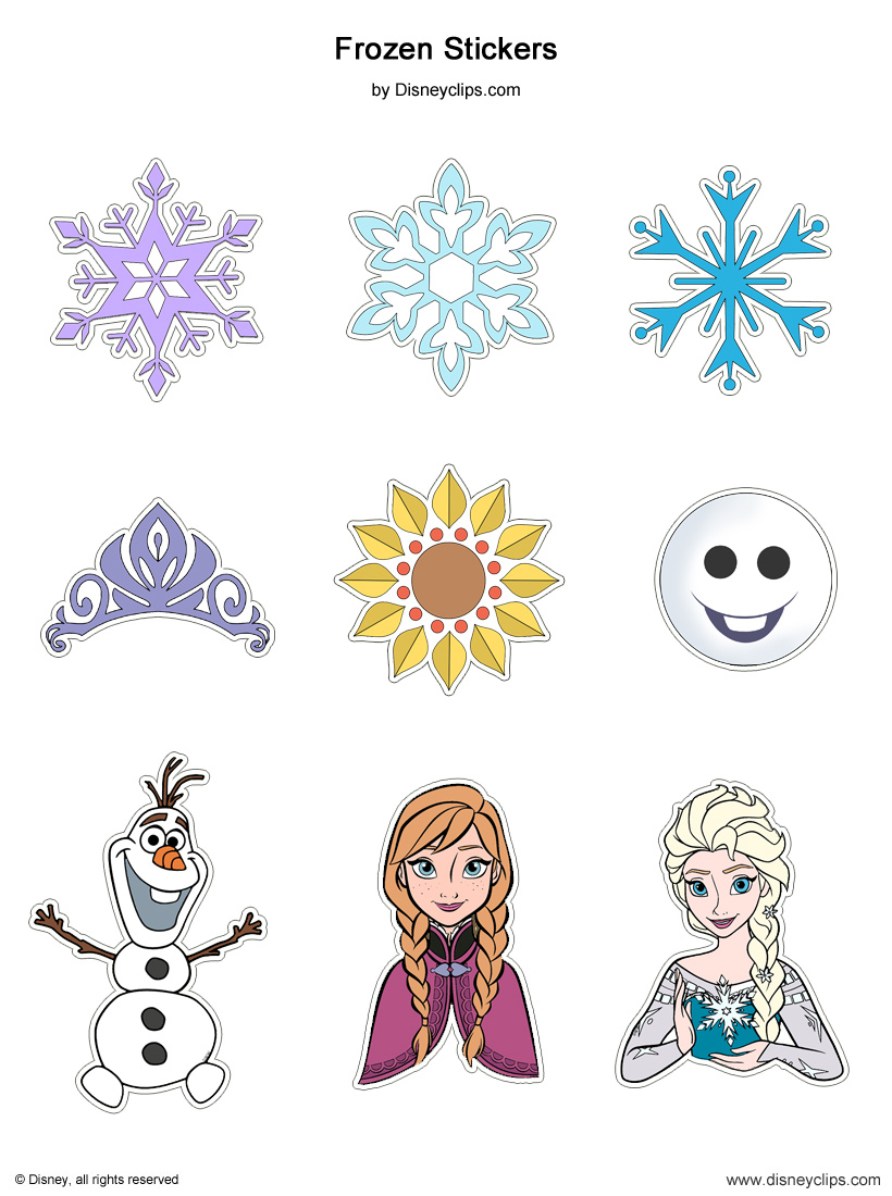 Disney's Frozen Printables   Disneyclips.com