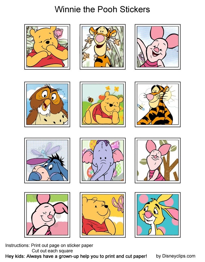 winnie the pooh and friends printables disneys world of