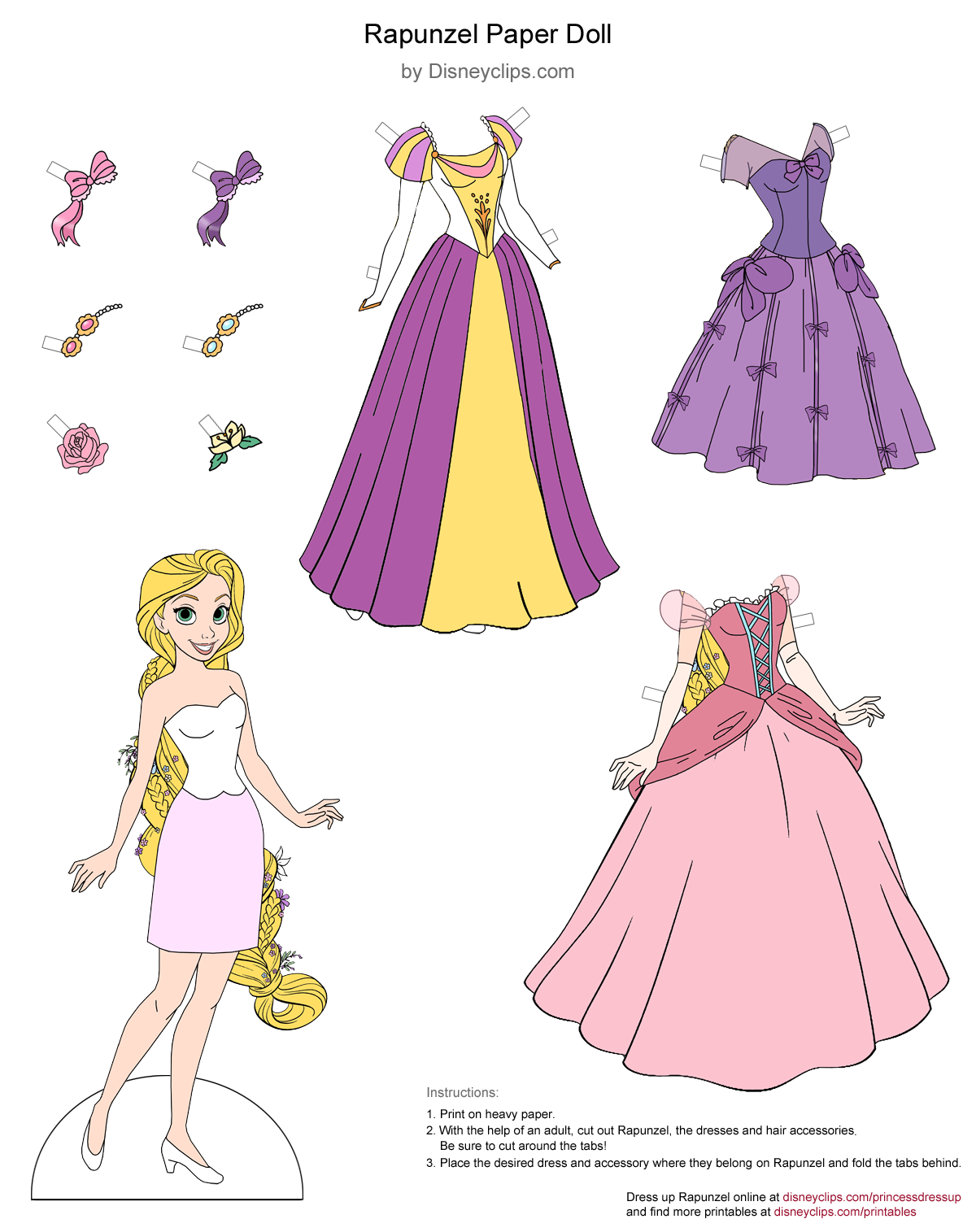 picture relating to Rapunzel Printable named Disney Princess Rapunzel Printables