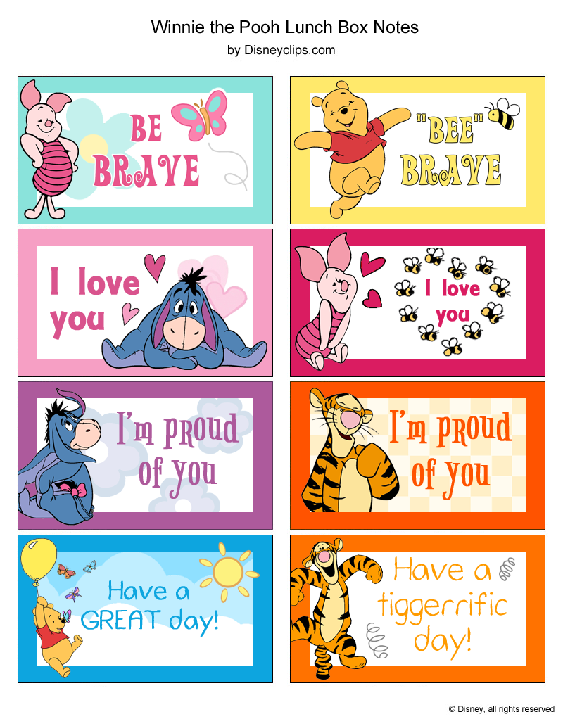 winnie the pooh and friends printables